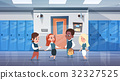 Group Of Schoolchildren In School Corridor Mix 32327525