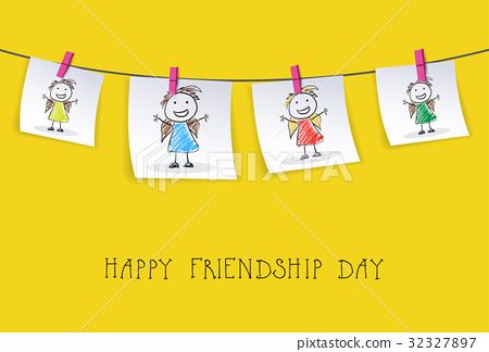 Happy Friendship Day Greeting Card Friends Holiday 32327897