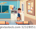 Small School Boy In ClassRoom, Elementary Class 32328051