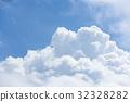积雨云 蓝天 蓝蓝的天空 32328282