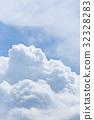 积雨云 蓝天 蓝蓝的天空 32328283
