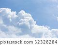 积雨云 蓝天 蓝蓝的天空 32328284