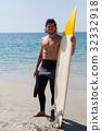 男性 男人 海滩 32332918
