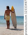 海滩 海 冲浪者 32333497