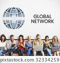 People connected to global communication online community 32334259