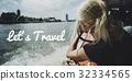 Let's Go Explore Travel Words Graphic 32334565