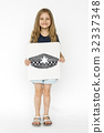 Children with a drawing of police hat 32337348