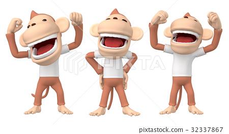 猴子 人物 日本猕猴 32337867