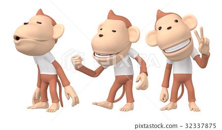 猴子 人物 日本猕猴 32337875