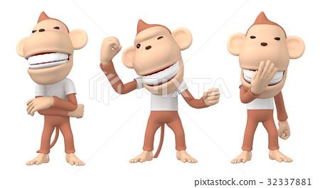 猴子 猴 人物 32337881