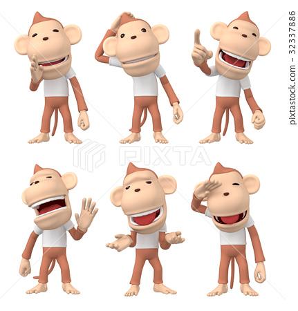 猴子 猴 人物 32337886