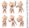 猴子 猴 人物 32337891