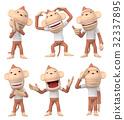 원숭이, 몽키, 캐릭터 32337895