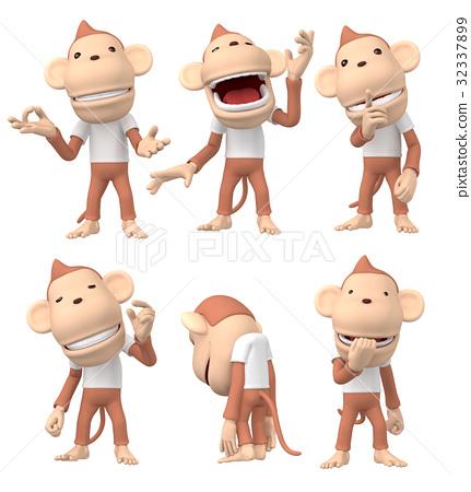 猴子 人物 日本猕猴 32337899