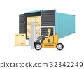cargo container vector 32342249