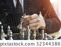 concept businessman thinking game of chess 32344386