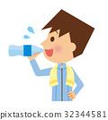 수분 보충, 물, 마시다 32344581