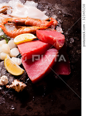 Seafood on the ice 32345150