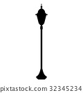 City street lantern the black color icon . 32345234