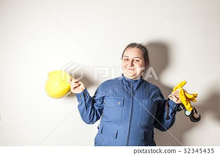 Female hard worker loves her job 32345435