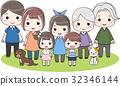 family, household, three 32346144