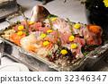 餐飲食品各種各樣的生魚片 32346347