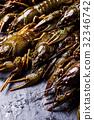 Fresh crayfish close-up 32346742