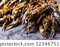 Fresh crayfish close-up 32346751
