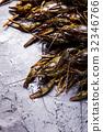 Fresh crayfish close-up 32346766