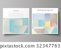 Business templates for square brochure, magazine 32347763