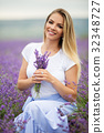 field, girl, lavender 32348727