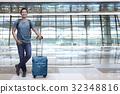 여행자, 사람, 공항 32348816
