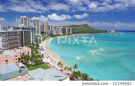 夏威夷风景(威基基海滩) 32349682