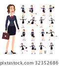 set Flat vector illustration of business women  32352686