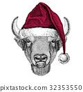 Buffalo bison drawing 32353550