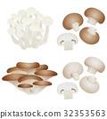 화이트 ぶなしめじ · 느타리 버섯 · 브라운 버섯 32353563