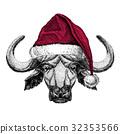 動物 威嚇 聖誕老人的帽子 32353566