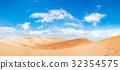 Panorama of the sand  desert 32354575