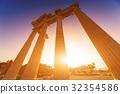 greek, temple, column 32354586
