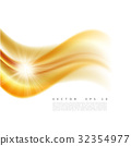 Vector illustration of an abstract orange wavy 32354977