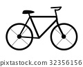 bicycle on white background. bicycle sign. 32356156