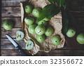Fresh Green Mountain Apples 32356672