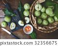 Fresh Green Mountain Apples 32356675