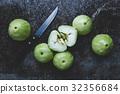 Fresh Green Mountain Apples 32356684