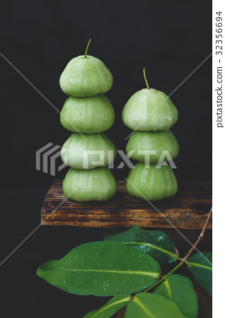 Fresh Green Mountain Apples 32356694