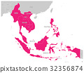 ASEAN Economic Community, AEC, map. Grey map with 32356874