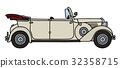 Vintage white cabriolet 32358715