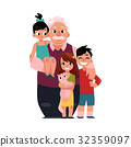 Family portrait, grandfather, grandpa standing 32359097