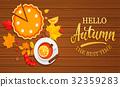 autumn, hello, banner 32359283