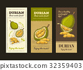 Vector illustration in design packing for durian 32359403
